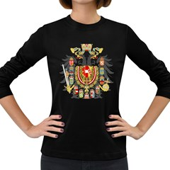 Imperial Coat Of Arms Of Austria Hungary  Women s Long Sleeve Dark T Shirts