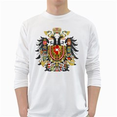 Imperial Coat Of Arms Of Austria Hungary  White Long Sleeve T Shirts