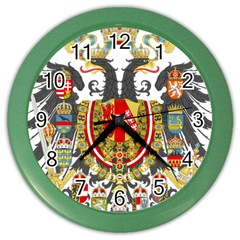 Imperial Coat Of Arms Of Austria Hungary  Color Wall Clocks