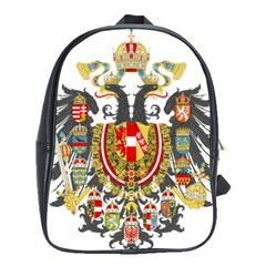 Imperial Coat Of Arms Of Austria Hungary  School Bag (large)