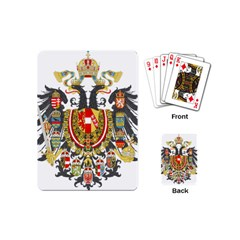 Imperial Coat Of Arms Of Austria Hungary  Playing Cards (mini)
