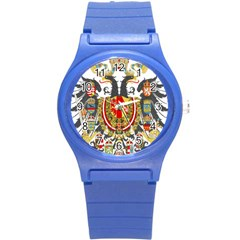 Imperial Coat Of Arms Of Austria Hungary  Round Plastic Sport Watch (s)
