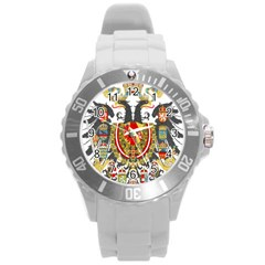 Imperial Coat Of Arms Of Austria Hungary  Round Plastic Sport Watch (l)