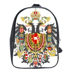 Imperial Coat Of Arms Of Austria Hungary  School Bag (xl)