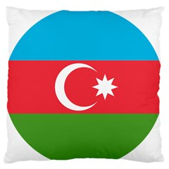 Roundel Of Azerbaijan Air Force Large Flano Cushion Case (two Sides) by abbeyz71