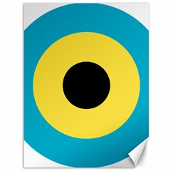 Roundel Of Royal Bahamas Defence Force Air Wing Canvas 36  X 48   by abbeyz71