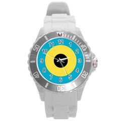 Roundel Of Royal Bahamas Defence Force Air Wing Round Plastic Sport Watch (l) by abbeyz71