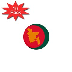 Flag Of Bangladesh, 1971 1  Mini Buttons (10 Pack)  by abbeyz71