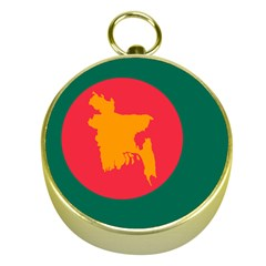 Flag Of Bangladesh, 1971 Gold Compasses by abbeyz71