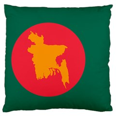 Flag Of Bangladesh, 1971 Standard Flano Cushion Case (one Side) by abbeyz71