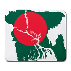 Flag Map Of Bangladesh Large Mousepads by abbeyz71