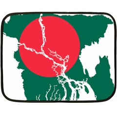 Flag Map Of Bangladesh Fleece Blanket (mini) by abbeyz71