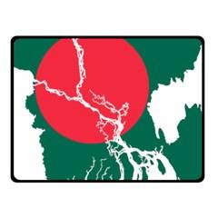 Flag Map Of Bangladesh Fleece Blanket (small) by abbeyz71