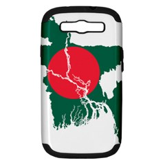 Flag Map Of Bangladesh Samsung Galaxy S Iii Hardshell Case (pc+silicone) by abbeyz71