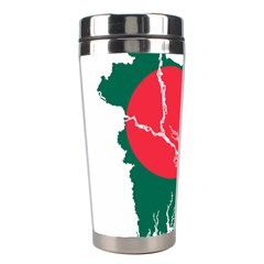 Flag Map Of Bangladesh Stainless Steel Travel Tumblers by abbeyz71
