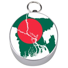 Flag Map Of Bangladesh Silver Compasses by abbeyz71