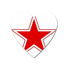 Roundel Of Belarusian Air Force Heart Magnet by abbeyz71