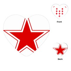 Roundel Of Belarusian Air Force Playing Cards (heart)  by abbeyz71