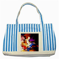 Balboa   Island On A Sand 16 Striped Blue Tote Bag by bestdesignintheworld