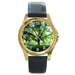 Highland Park 14 Round Gold Metal Watch
