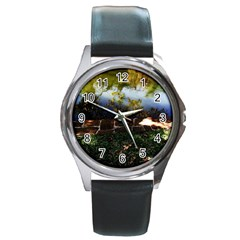 Highland Park 10 Round Metal Watch