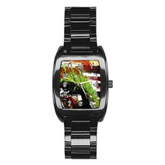 Collosium   Swards And Helmets 3 Stainless Steel Barrel Watch