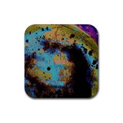 Blue Options 5 Rubber Square Coaster (4 Pack)