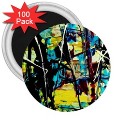 Dance Of Oil Towers 3 3  Magnets (100 Pack)
