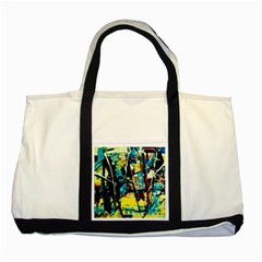 Dance Of Oil Towers 3 Two Tone Tote Bag