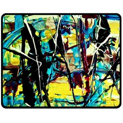 Dance Of Oil Towers 3 Fleece Blanket (medium)