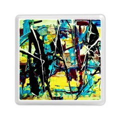 Dance Of Oil Towers 3 Memory Card Reader (square)  by bestdesignintheworld