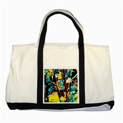 Dance Of Oil Towers 4 Two Tone Tote Bag