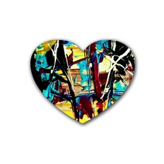 Dance Of Oil Towers 4 Rubber Coaster (heart)