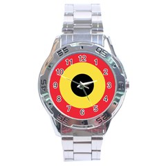Roundel Of Belgian Air Force Stainless Steel Analogue Watch by abbeyz71