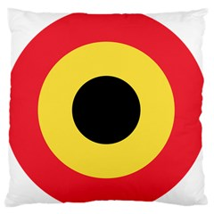 Roundel Of Belgian Air Force Large Flano Cushion Case (two Sides) by abbeyz71