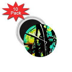 Dance Of Oil Towers 5 1 75  Magnets (10 Pack)