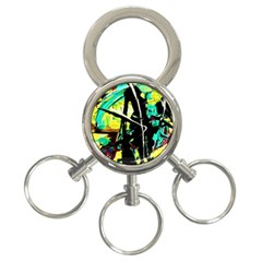 Dance Of Oil Towers 5 3 Ring Key Chains