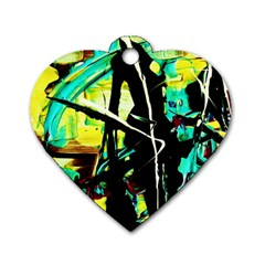 Dance Of Oil Towers 5 Dog Tag Heart (two Sides)