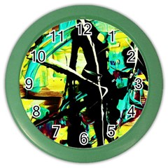 Dance Of Oil Towers 5 Color Wall Clocks
