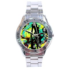 Dance Of Oil Towers 5 Stainless Steel Analogue Watch
