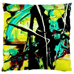 Dance Of Oil Towers 5 Large Cushion Case (two Sides) by bestdesignintheworld