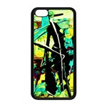 Dance Of Oil Towers 5 Apple iPhone 5C Seamless Case (Black) Front