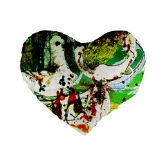 Doves Matchmaking 12 Standard 16  Premium Flano Heart Shape Cushions by bestdesignintheworld