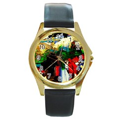 Catalina Island Not So Far 6 Round Gold Metal Watch