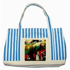 Catalina Island Not So Far 6 Striped Blue Tote Bag
