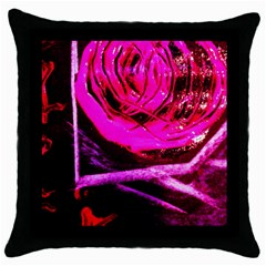 Calligraphy 2 Throw Pillow Case (black)