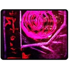 Calligraphy 2 Double Sided Fleece Blanket (large)