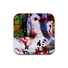 Doves Match 1 Rubber Square Coaster (4 Pack)