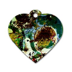 Doves Matchmaking 1 Dog Tag Heart (two Sides)