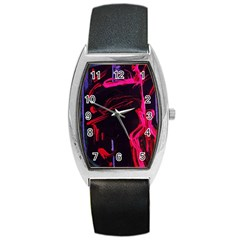 Calligraphy 4 Barrel Style Metal Watch
